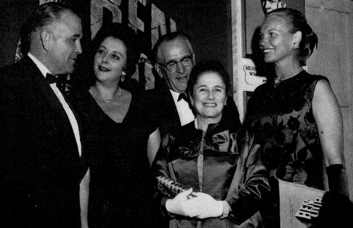 Marmorston (second from right) at Ben-Hur Premiere Benefit, 1959