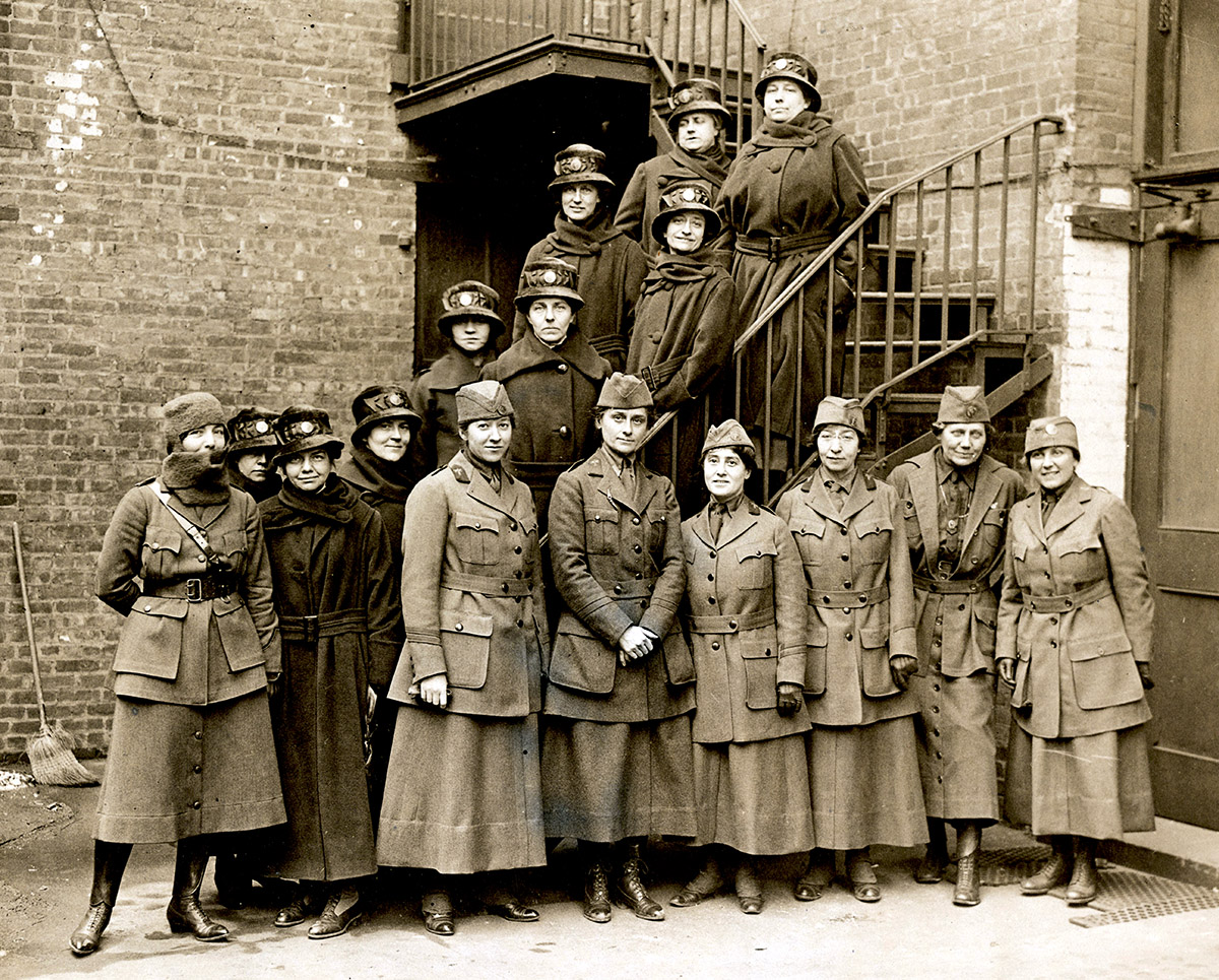 First Contingent of Women's Oversea Hospitals, c. 1918 (Povitzky front row, third from right)