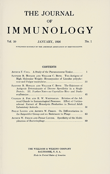 Vol. 30, Issue 1; January 1, 1936
